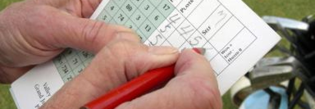 writing on scorecard