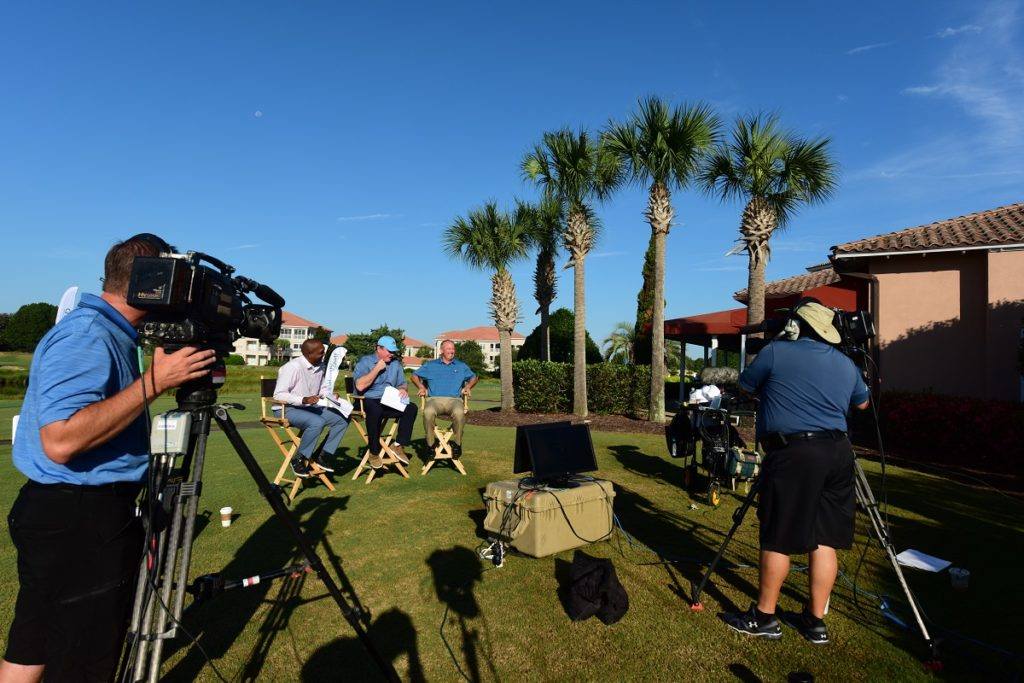 The Golf Channel broadcasting live from Grande Dunes
